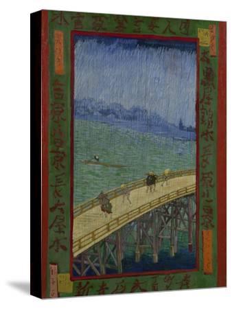 Japonaiserie: The Bridge in the Rain (after Hiroshige), Paris, 1887-Vincent van Gogh-Stretched Canvas Print