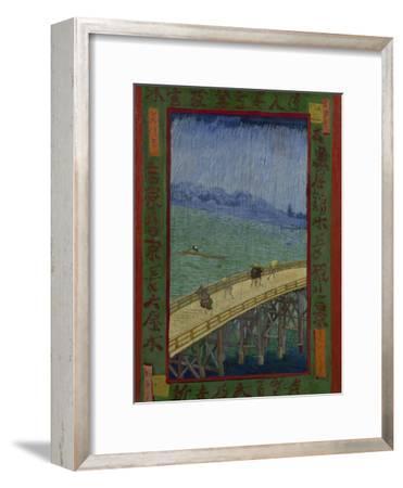 Japonaiserie: The Bridge in the Rain (after Hiroshige), Paris, 1887-Vincent van Gogh-Framed Giclee Print