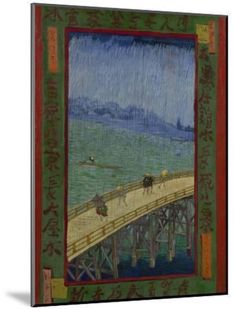 Japonaiserie: The Bridge in the Rain (after Hiroshige), Paris, 1887-Vincent van Gogh-Mounted Giclee Print