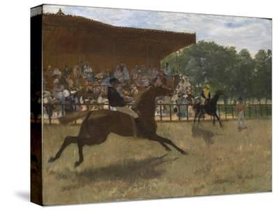 The False Start, c.1869-72-Edgar Degas-Stretched Canvas Print
