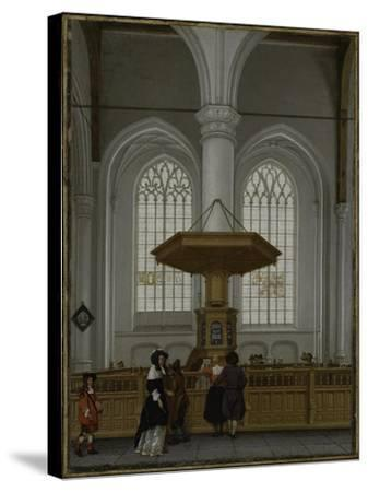 Interior of the Laurenskerk at Rotterdam, 1662-Anthonie de Lorme-Stretched Canvas Print