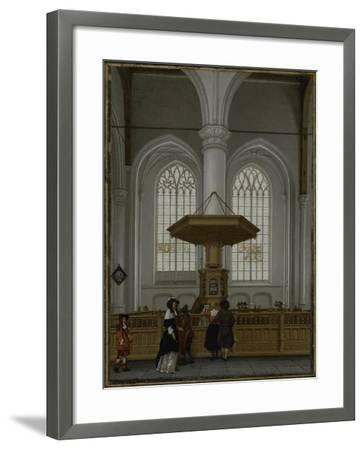 Interior of the Laurenskerk at Rotterdam, 1662-Anthonie de Lorme-Framed Giclee Print