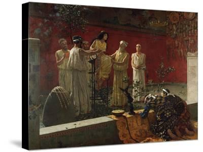 The Oracle, 1880-Camillo Miola-Stretched Canvas Print