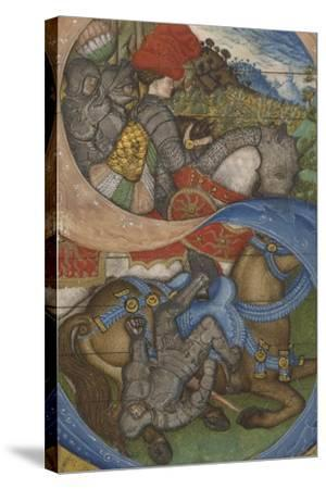 Initial S and the Conversion of Saint Paul Ms 41, c.1440-50-Antonio Pisanello-Stretched Canvas Print