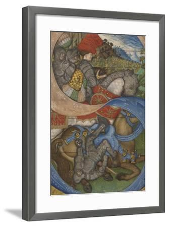 Initial S and the Conversion of Saint Paul Ms 41, c.1440-50-Antonio Pisanello-Framed Giclee Print