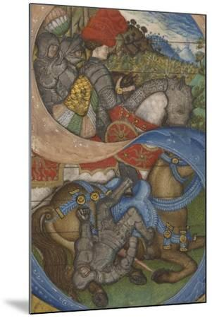 Initial S and the Conversion of Saint Paul Ms 41, c.1440-50-Antonio Pisanello-Mounted Giclee Print