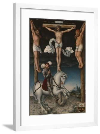 The Crucifixion with the Converted Centurion, 1538-Lucas, The Elder Cranach-Framed Giclee Print