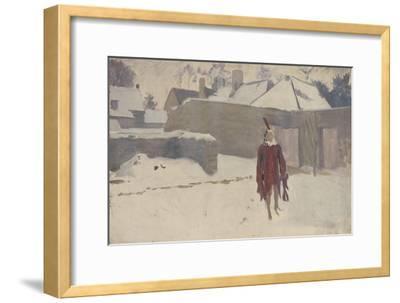 Mannikin in the Snow, c.1893-5-John Singer Sargent-Framed Giclee Print