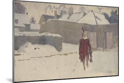 Mannikin in the Snow, c.1893-5-John Singer Sargent-Mounted Giclee Print