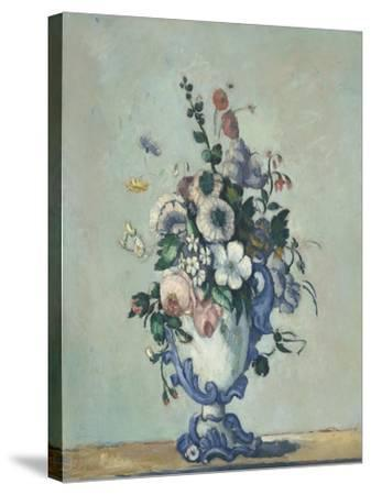 Flowers in a Rococo Vase, c.1876-Paul Cezanne-Stretched Canvas Print