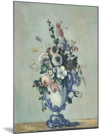 Flowers in a Rococo Vase, c.1876-Paul Cezanne-Mounted Giclee Print