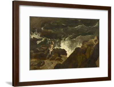 Shipwrecked on a Beach, c.1822-3-Theodore Gericault-Framed Giclee Print