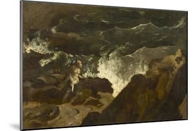 Shipwrecked on a Beach, c.1822-3-Theodore Gericault-Mounted Giclee Print