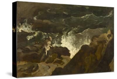 Shipwrecked on a Beach, c.1822-3-Theodore Gericault-Stretched Canvas Print
