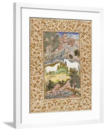 Birth of the Celestial Twins, c.1585-90-Mughal School-Framed Giclee Print