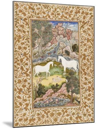 Birth of the Celestial Twins, c.1585-90-Mughal School-Mounted Giclee Print