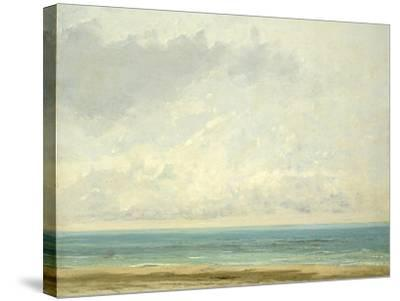 Calm Sea, 1866-Gustave Courbet-Stretched Canvas Print