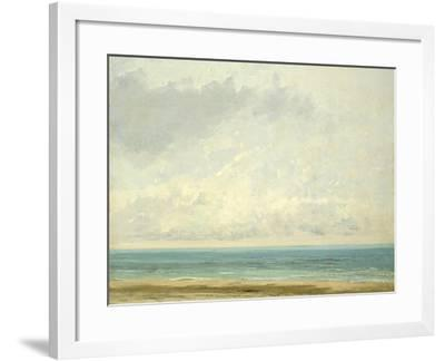 Calm Sea, 1866-Gustave Courbet-Framed Giclee Print