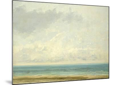 Calm Sea, 1866-Gustave Courbet-Mounted Giclee Print