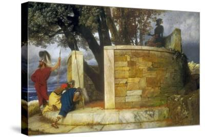 The Sanctuary of Hercules, 1884-Arnold Bocklin-Stretched Canvas Print