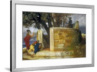 The Sanctuary of Hercules, 1884-Arnold Bocklin-Framed Giclee Print