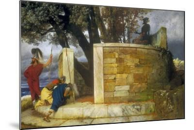 The Sanctuary of Hercules, 1884-Arnold Bocklin-Mounted Giclee Print