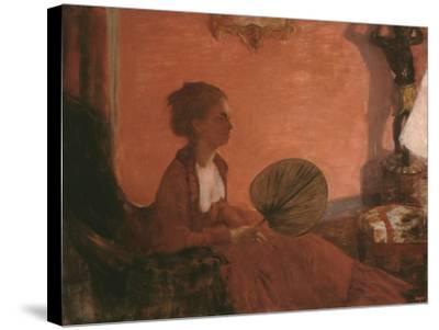 Madame Camus, 1869-70-Edgar Degas-Stretched Canvas Print
