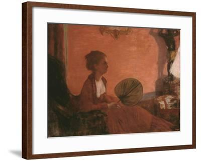 Madame Camus, 1869-70-Edgar Degas-Framed Giclee Print