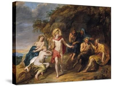 The Judgment of Midas, c.1640-Jan van den Hoecke-Stretched Canvas Print