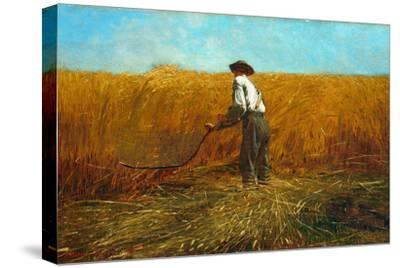 The Veteran in a New Field, 1865-Winslow Homer-Stretched Canvas Print