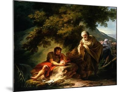 Democritus Among the Abderitans, c.1790-Francois Andre Vincent-Mounted Giclee Print