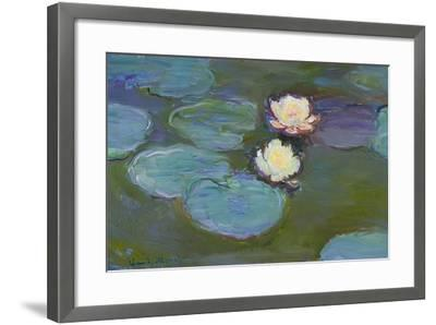 Nympheas, 1897-8-Claude Monet-Framed Giclee Print