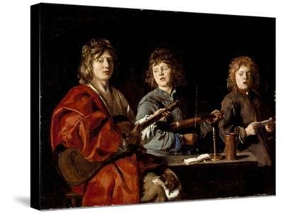 Three Young Musicians, c.1630-Antoine Le Nain-Stretched Canvas Print