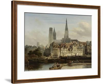 The Quay de Paris in Rouen, Johannes Bosboom, 1839-Johannes Bosboom-Framed Giclee Print