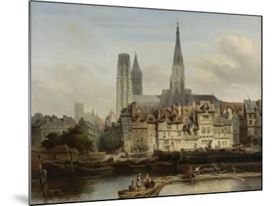 The Quay de Paris in Rouen, Johannes Bosboom, 1839-Johannes Bosboom-Mounted Giclee Print