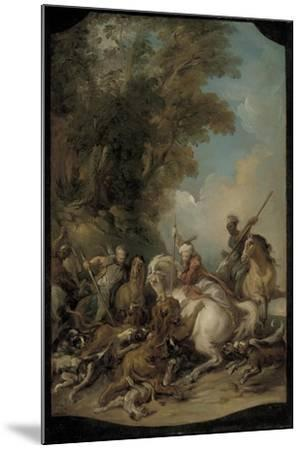 The Lion Hunt, 1735-Jean Francois de Troy-Mounted Giclee Print