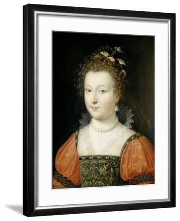 Portrait of a Woman (previously identified as Queen Elizabeth I), 1550-74- Fontainebleau School-Framed Giclee Print