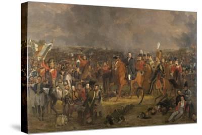 The Battle of Waterloo, 1824-Jan Willem Pieneman-Stretched Canvas Print