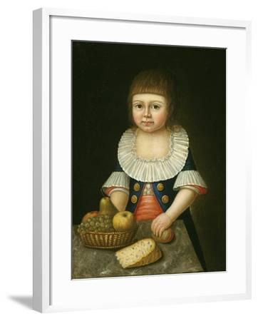Boy with a Basket of Fruit, c.1790-American School-Framed Giclee Print