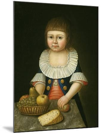 Boy with a Basket of Fruit, c.1790-American School-Mounted Giclee Print