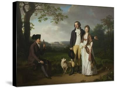 Ryberg with his Son Johan Christian and his Daughter-in-Law Engelke, née Falbe, 1797-Jens Juel-Stretched Canvas Print
