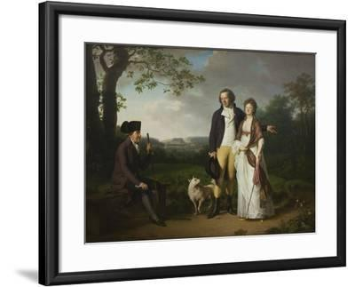 Ryberg with his Son Johan Christian and his Daughter-in-Law Engelke, née Falbe, 1797-Jens Juel-Framed Giclee Print