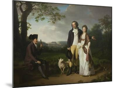 Ryberg with his Son Johan Christian and his Daughter-in-Law Engelke, née Falbe, 1797-Jens Juel-Mounted Giclee Print