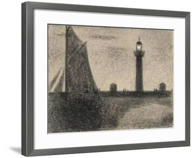 The Lighthouse at Honfleur, 1886-Georges Pierre Seurat-Framed Giclee Print