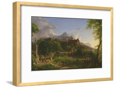 The Departure, 1837-Thomas Cole-Framed Giclee Print