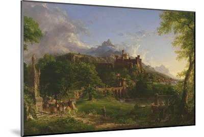 The Departure, 1837-Thomas Cole-Mounted Giclee Print