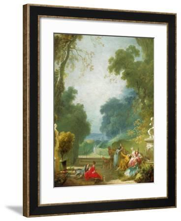 A Game of Hot Cockles, c.1775-80-Jean-Honore Fragonard-Framed Giclee Print