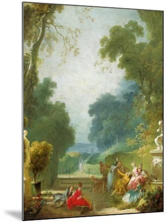 A Game of Hot Cockles, c.1775-80-Jean-Honore Fragonard-Mounted Giclee Print