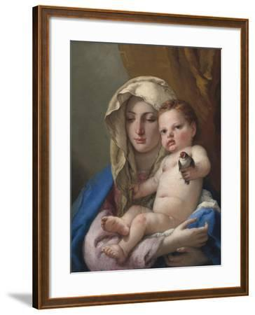 Madonna of the Goldfinch, c.1767-70-Giovanni Battista Tiepolo-Framed Giclee Print