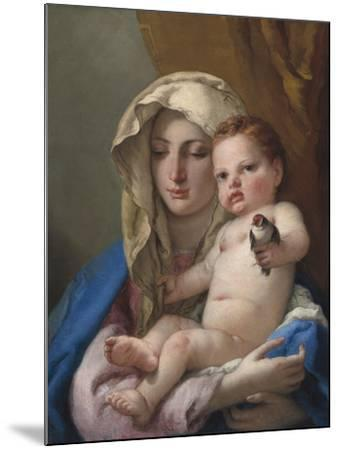 Madonna of the Goldfinch, c.1767-70-Giovanni Battista Tiepolo-Mounted Giclee Print